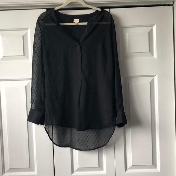 Merona Tops - Merona sheer black embellished button down